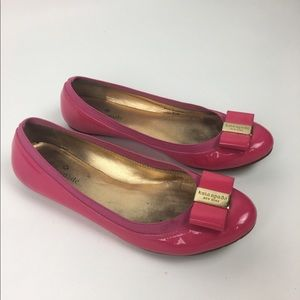 8e04d07e9c4c Kate Spade Hot Pink Patent Leather Ballet Flats